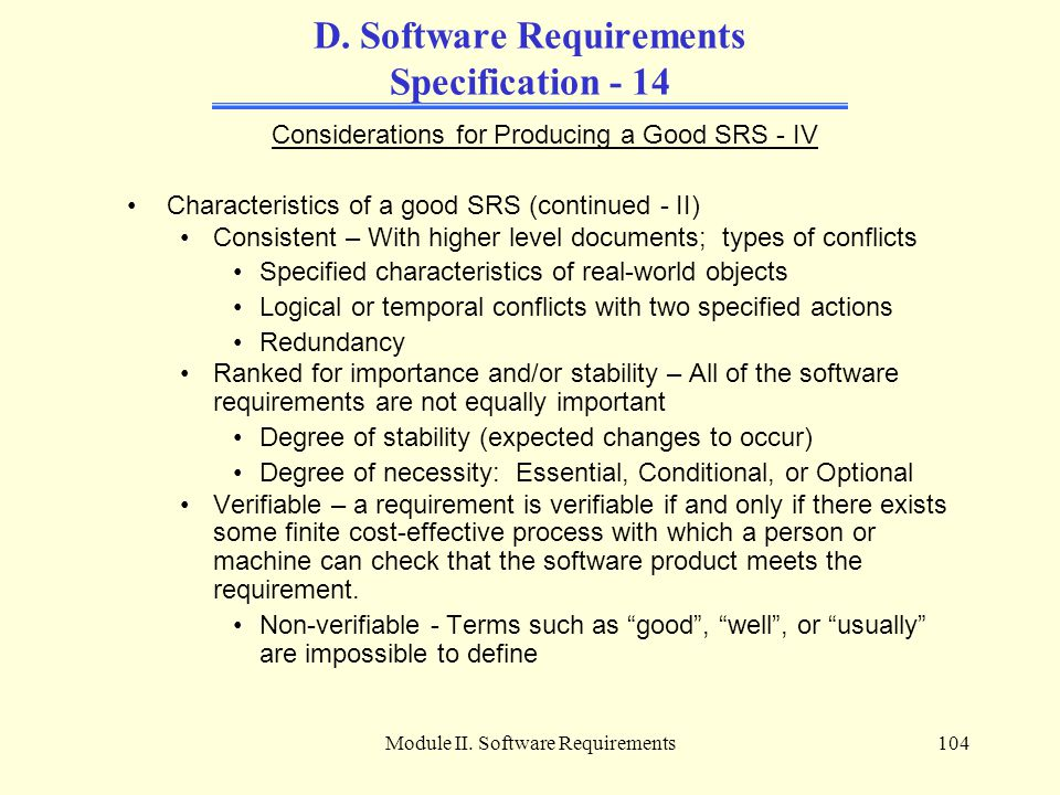 D. Software Requirements Specification - 14
