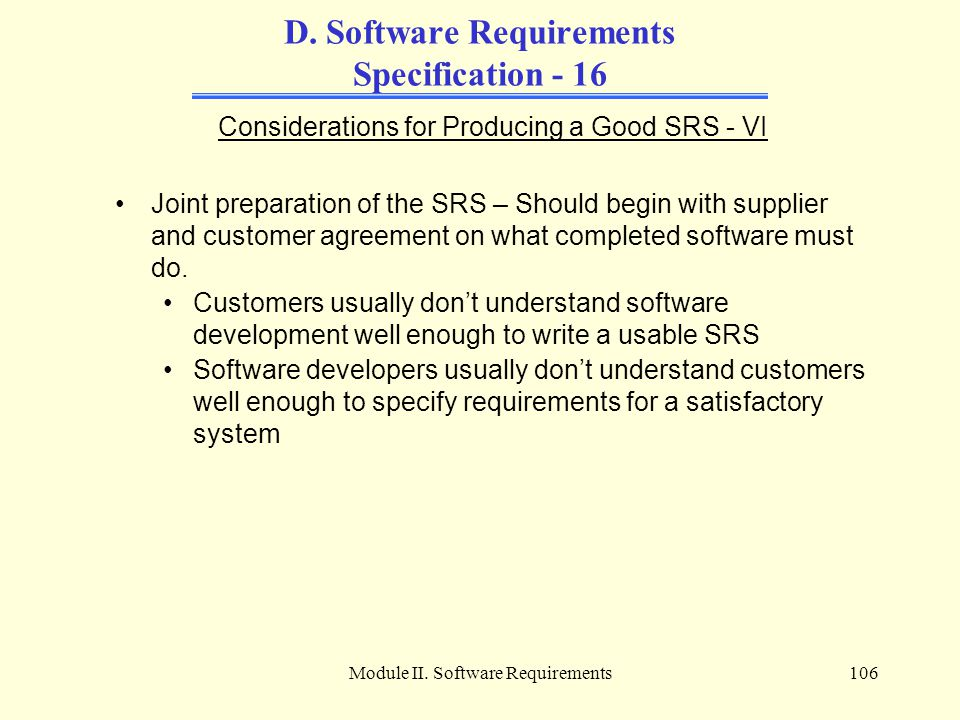 D. Software Requirements Specification - 16