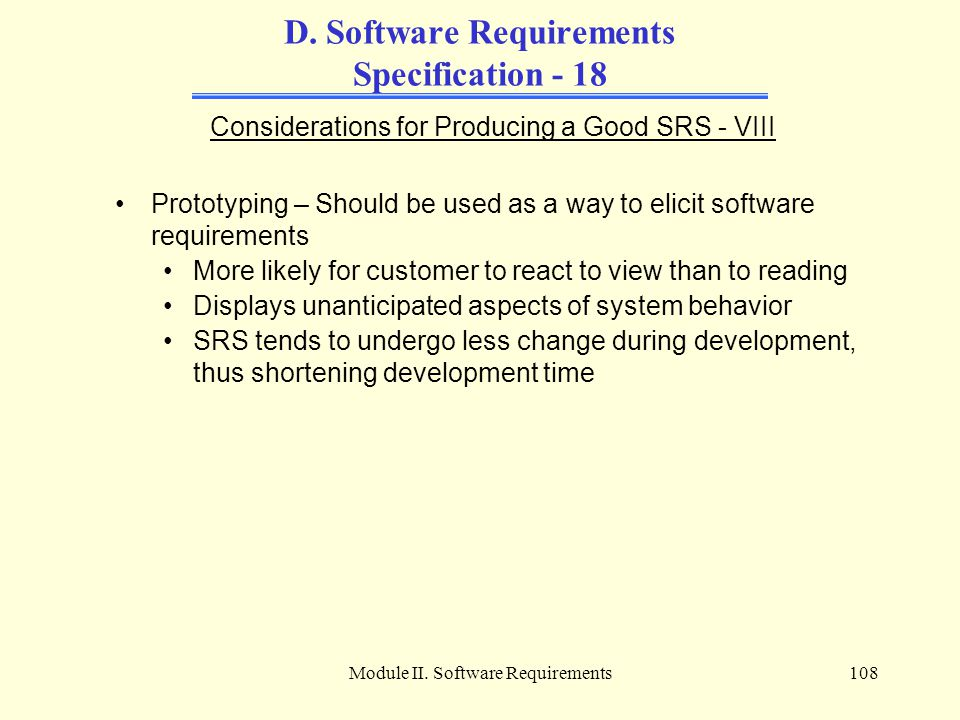 D. Software Requirements Specification - 18