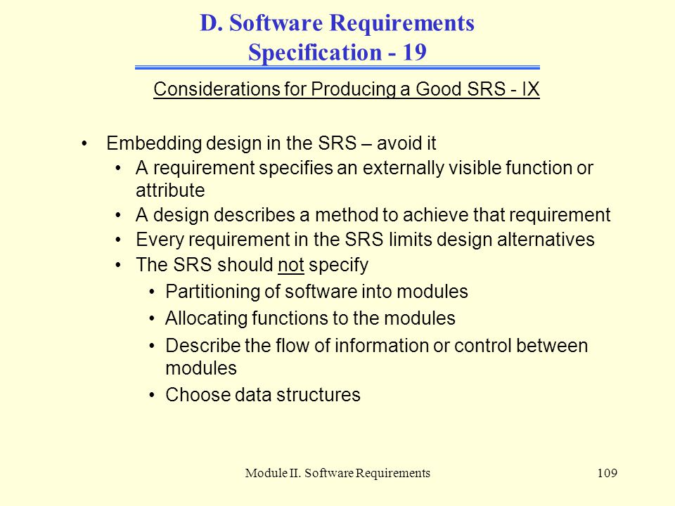 D. Software Requirements Specification - 19