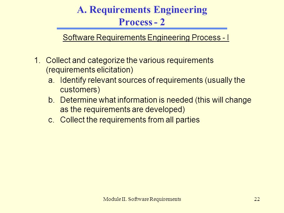 A. Requirements Engineering Process - 2