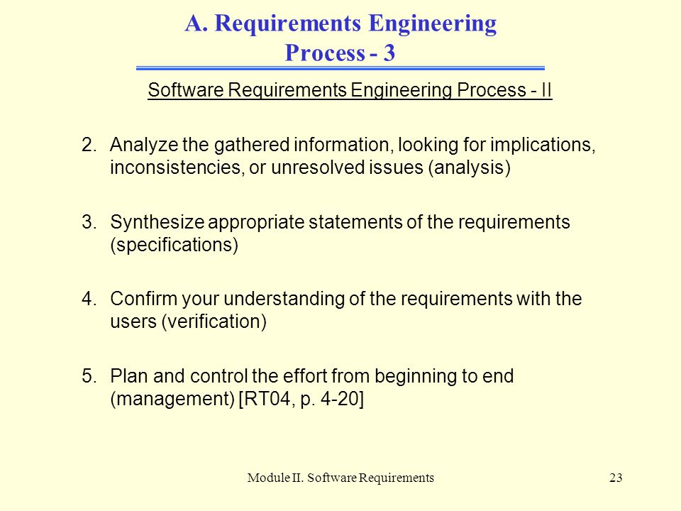 A. Requirements Engineering Process - 3