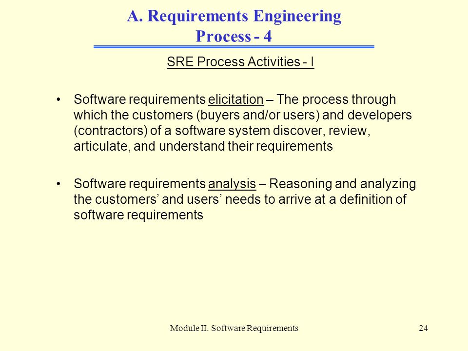 A. Requirements Engineering Process - 4
