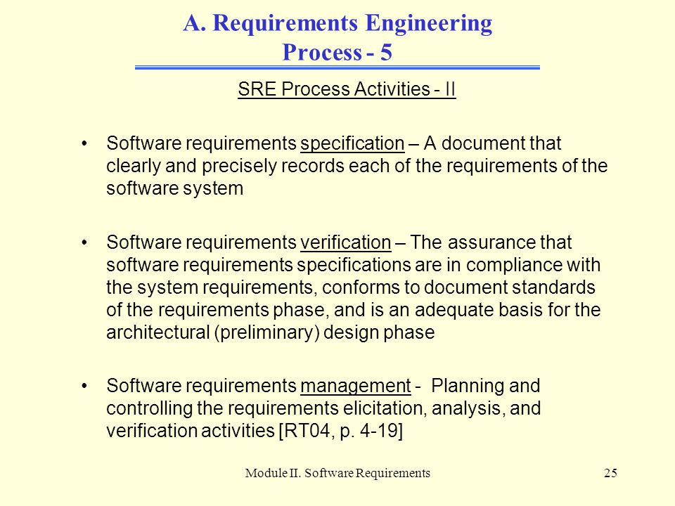 A. Requirements Engineering Process - 5