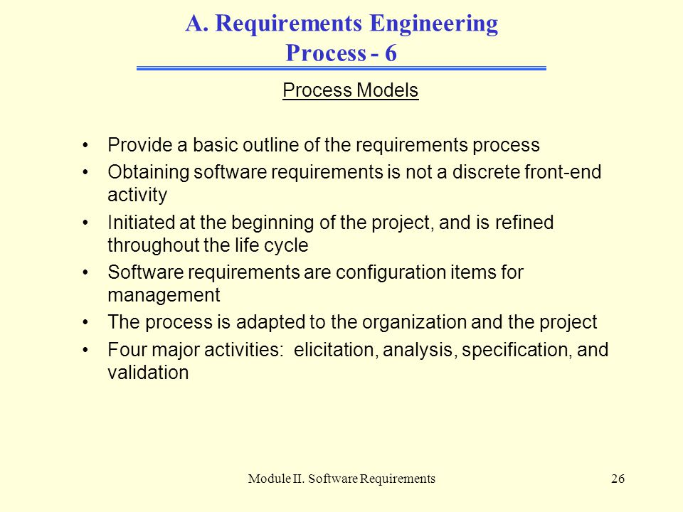 A. Requirements Engineering Process - 6