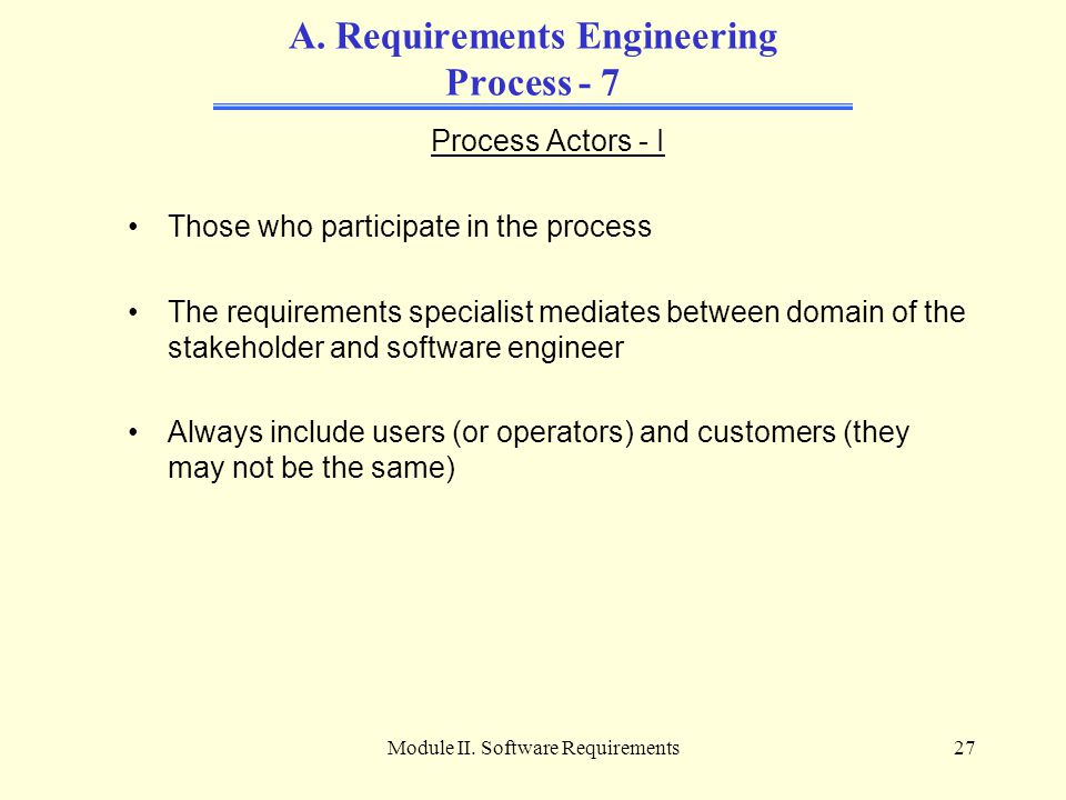A. Requirements Engineering Process - 7