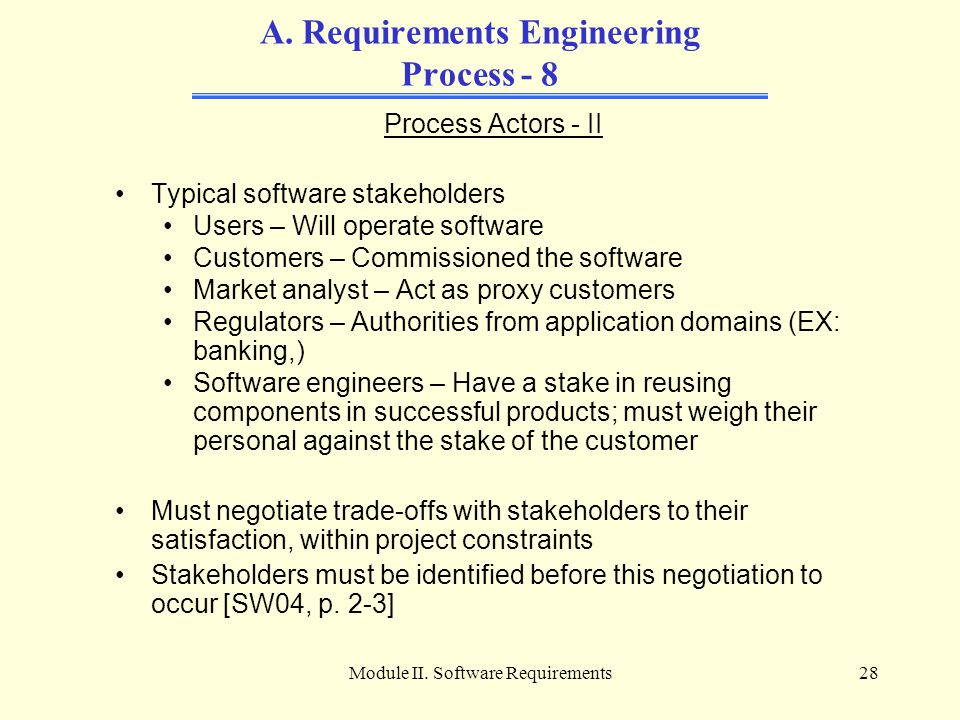 A. Requirements Engineering Process - 8