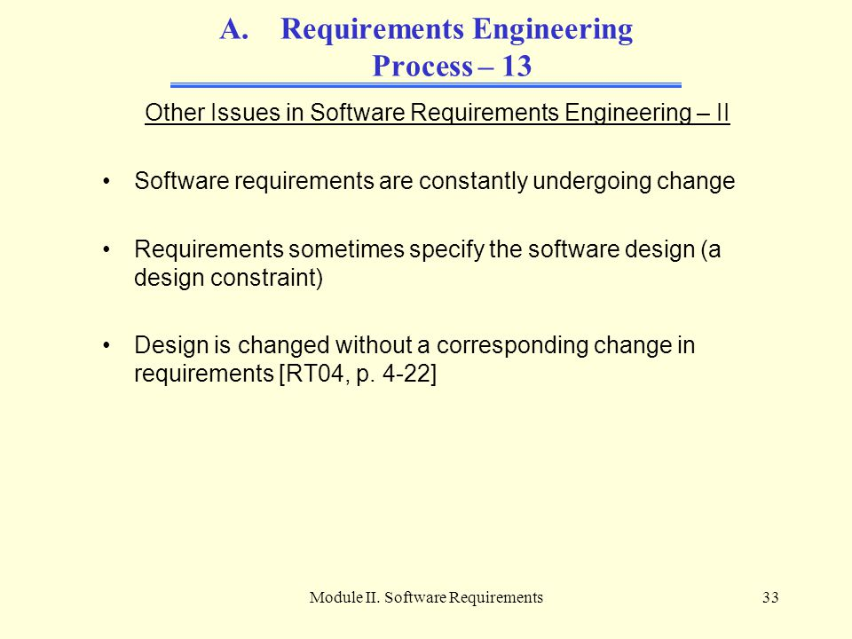 Requirements Engineering Process – 13