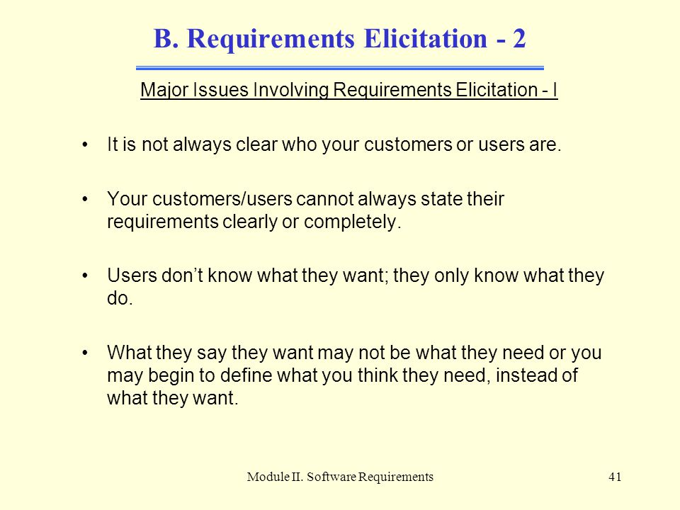 B. Requirements Elicitation - 2
