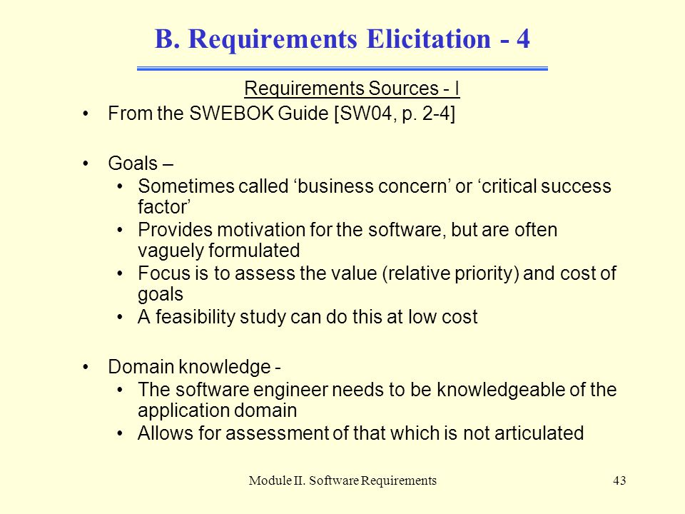 B. Requirements Elicitation - 4