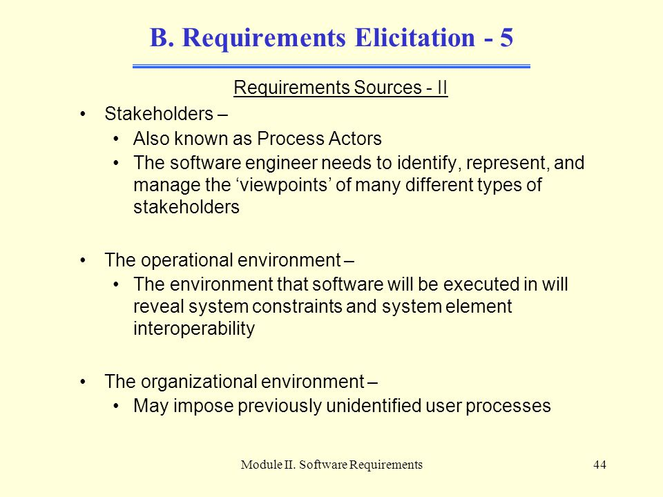 B. Requirements Elicitation - 5