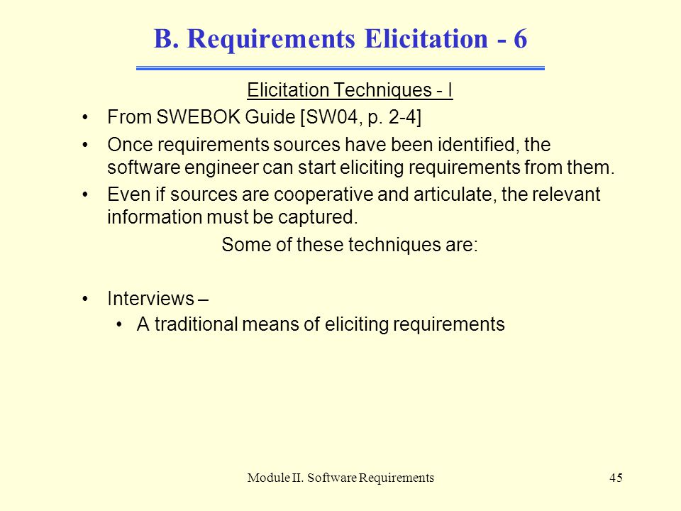B. Requirements Elicitation - 6