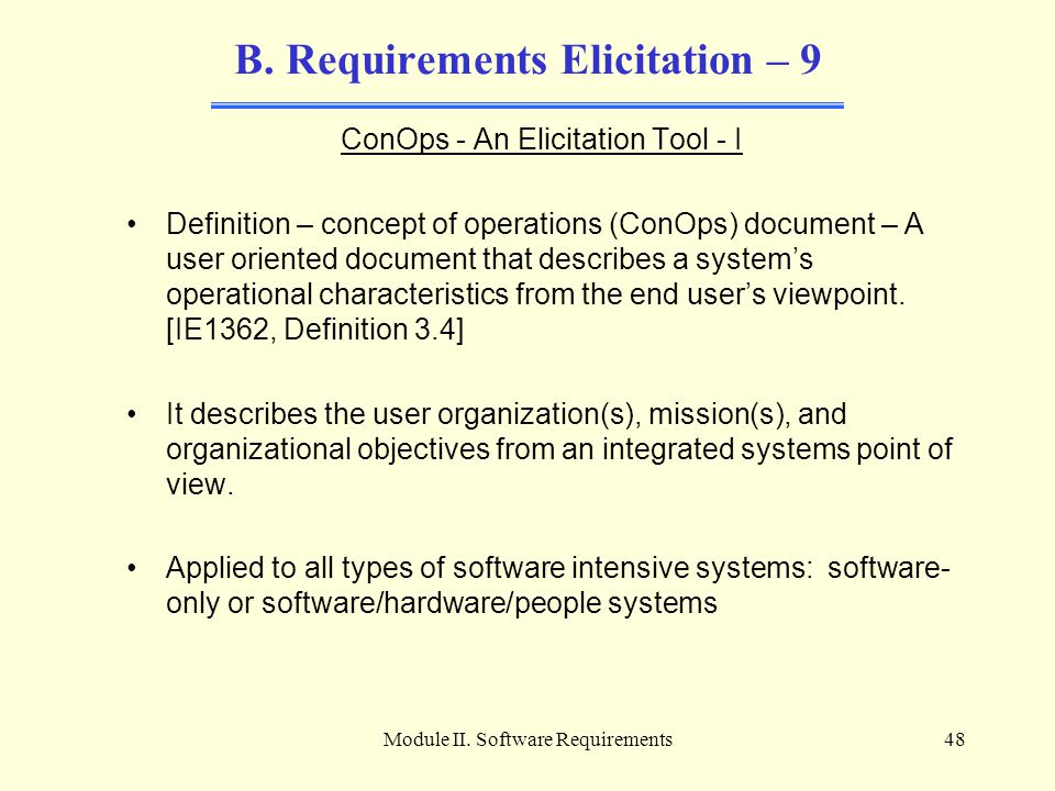 B. Requirements Elicitation – 9