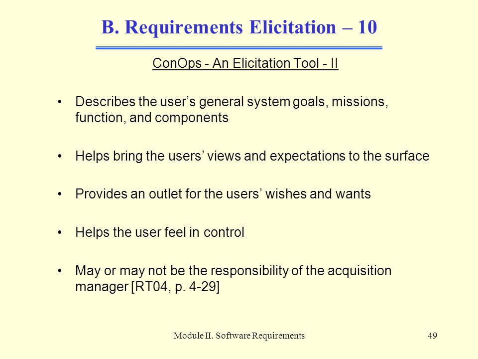B. Requirements Elicitation – 10