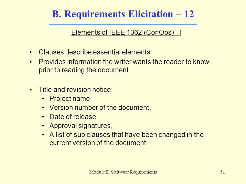 B. Requirements Elicitation – 12