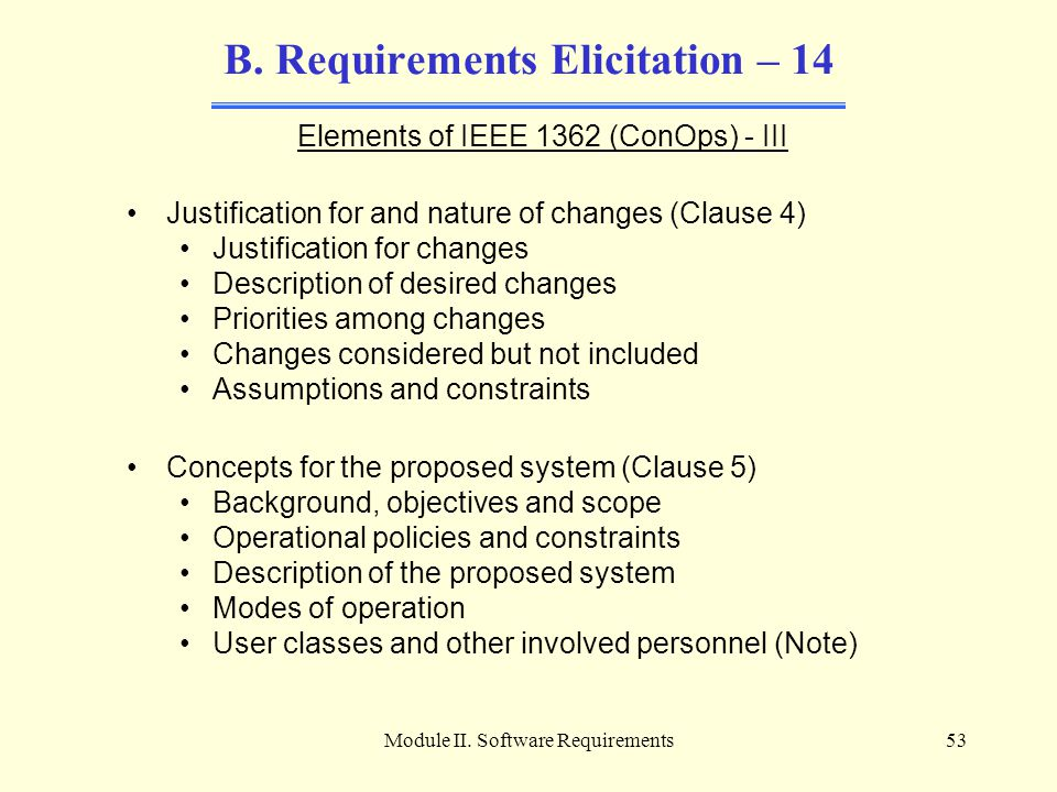 B. Requirements Elicitation – 14
