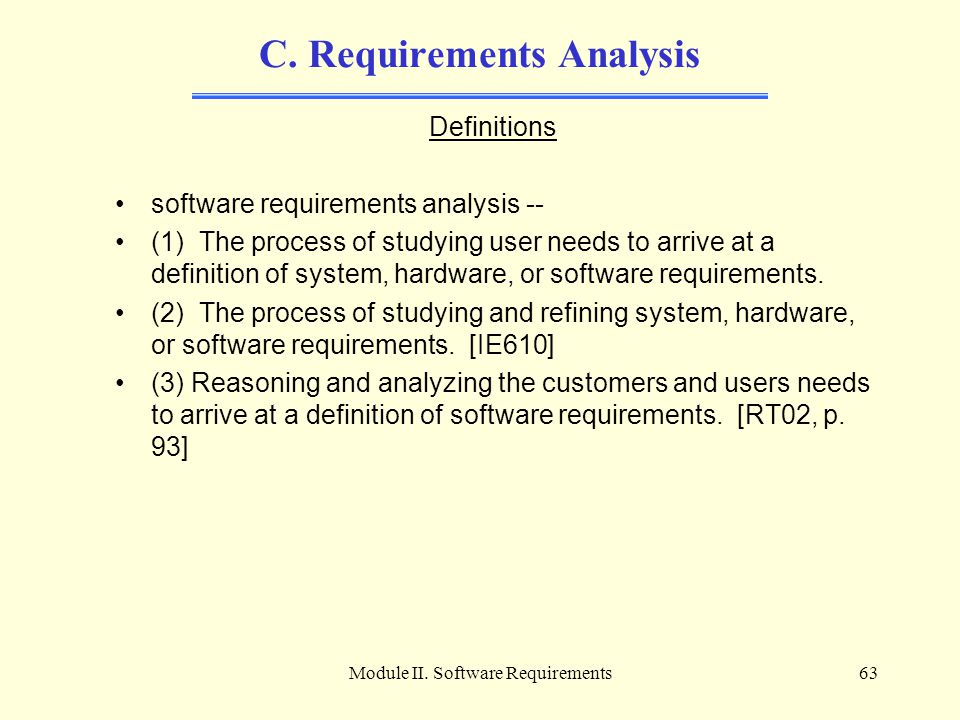 C. Requirements Analysis