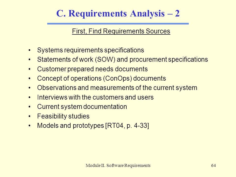 C. Requirements Analysis – 2