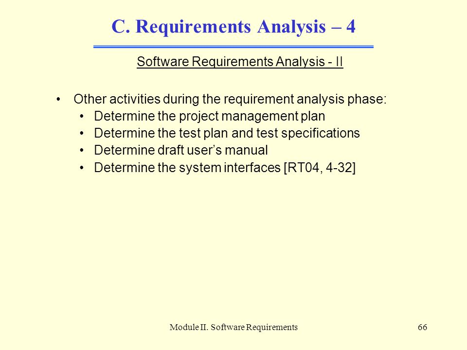 C. Requirements Analysis – 4