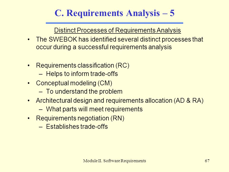 C. Requirements Analysis – 5
