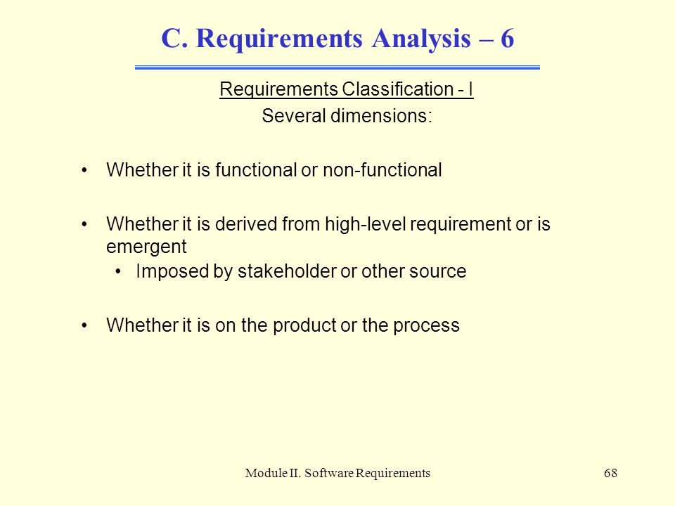C. Requirements Analysis – 6