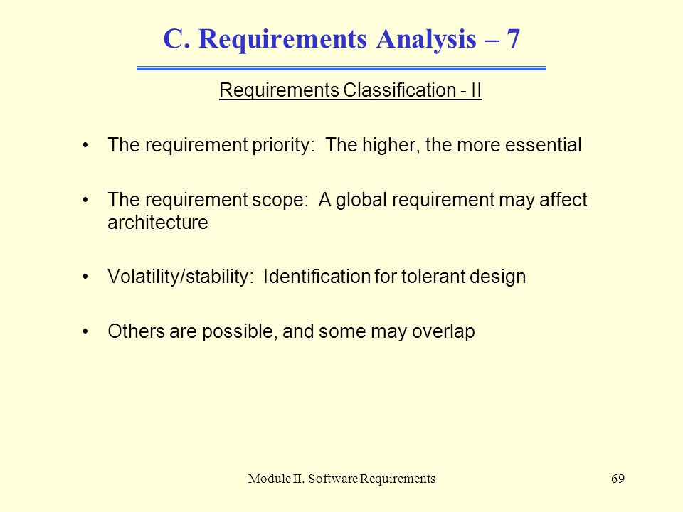 C. Requirements Analysis – 7