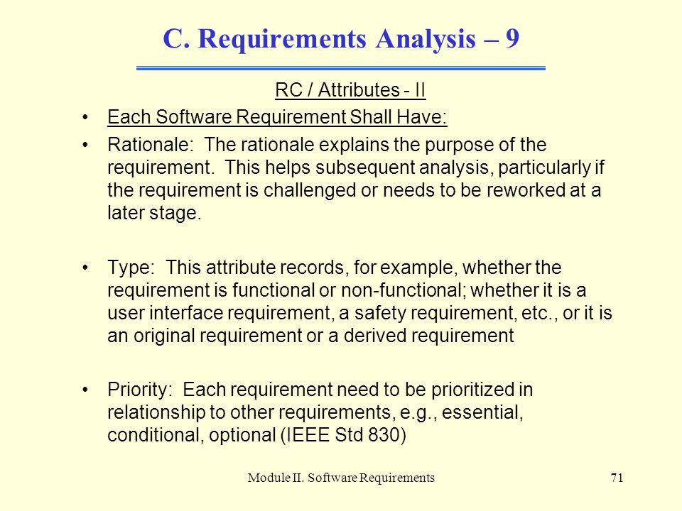 C. Requirements Analysis – 9