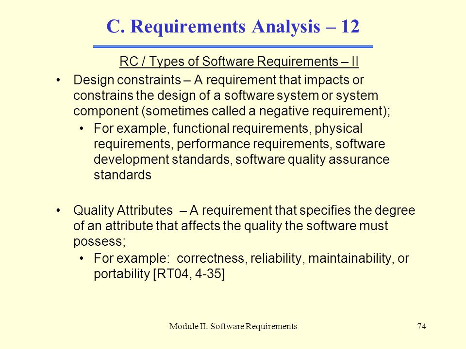 C. Requirements Analysis – 12