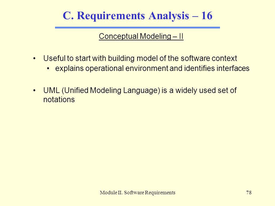 C. Requirements Analysis – 16