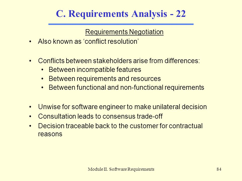 C. Requirements Analysis - 22