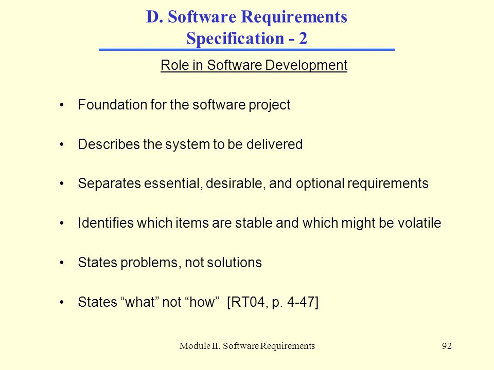 D. Software Requirements Specification - 2