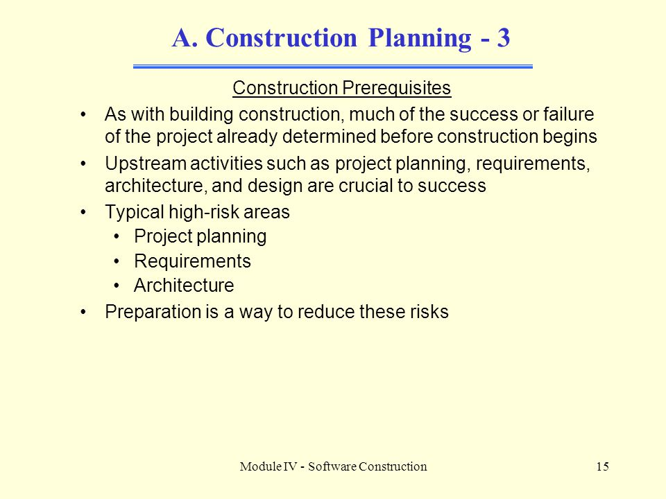 A. Construction Planning - 3