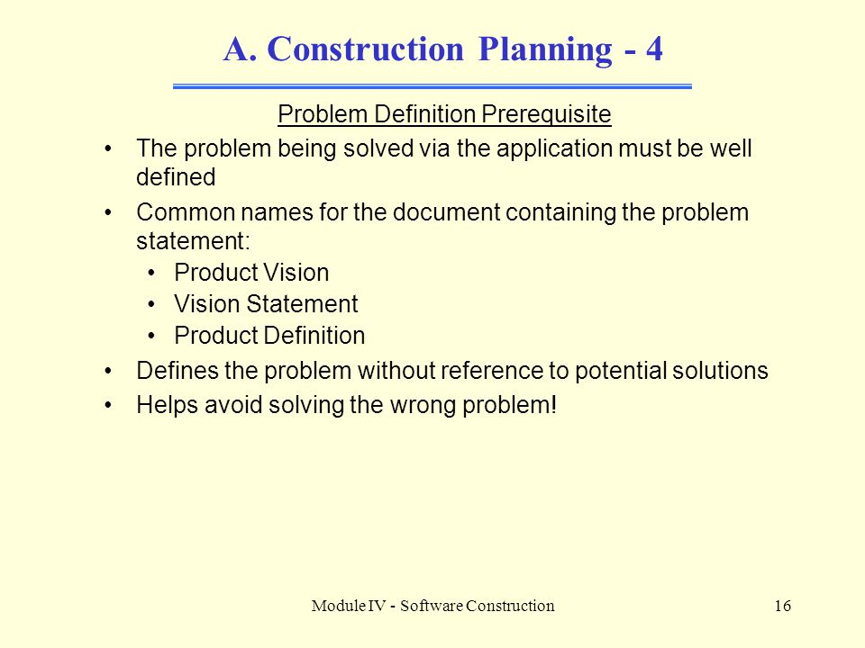 A. Construction Planning - 4