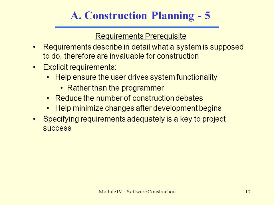 A. Construction Planning - 5