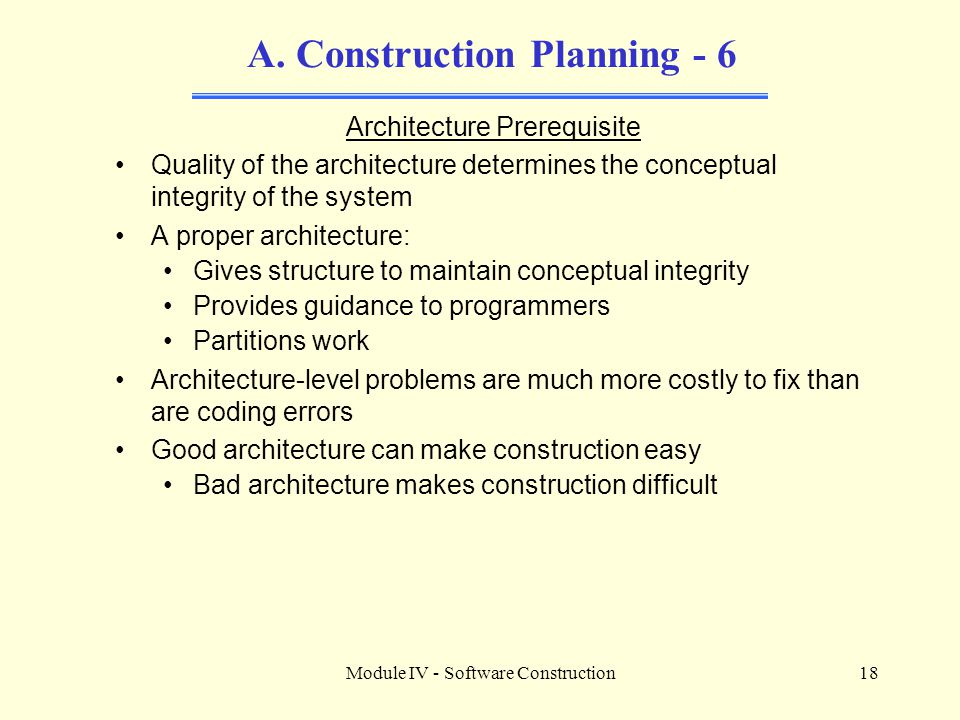 A. Construction Planning - 6