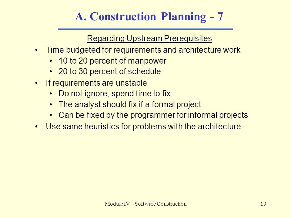 A. Construction Planning - 7