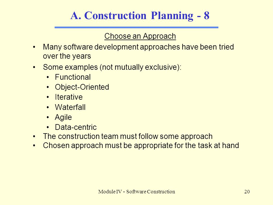 A. Construction Planning - 8