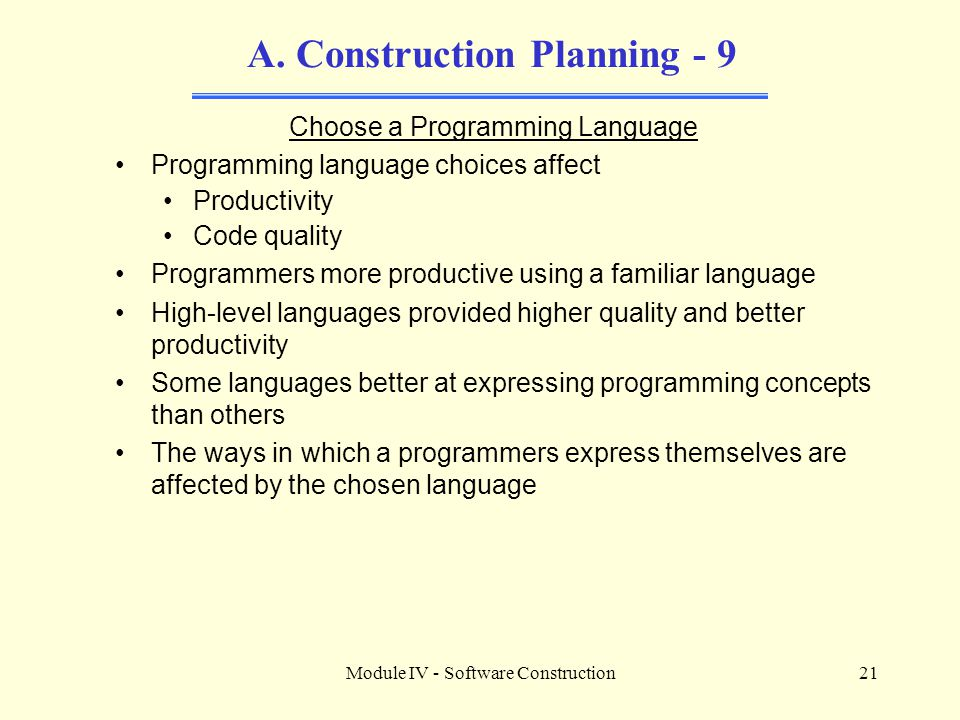 A. Construction Planning - 9