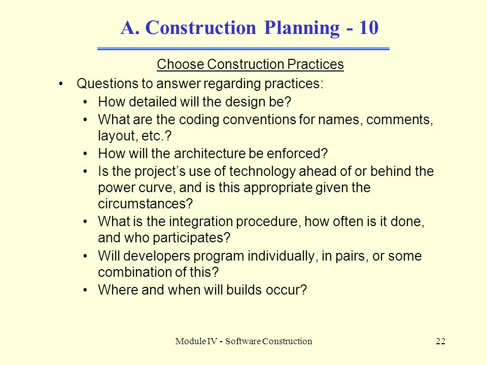 A. Construction Planning - 10