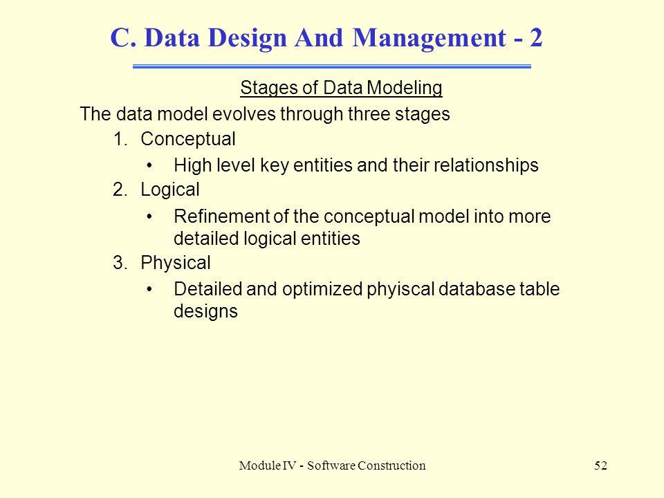 C. Data Design And Management - 2