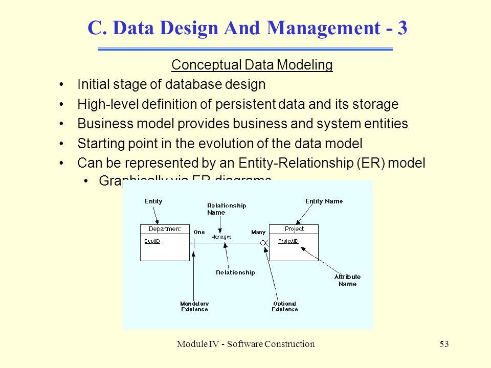 C. Data Design And Management - 3