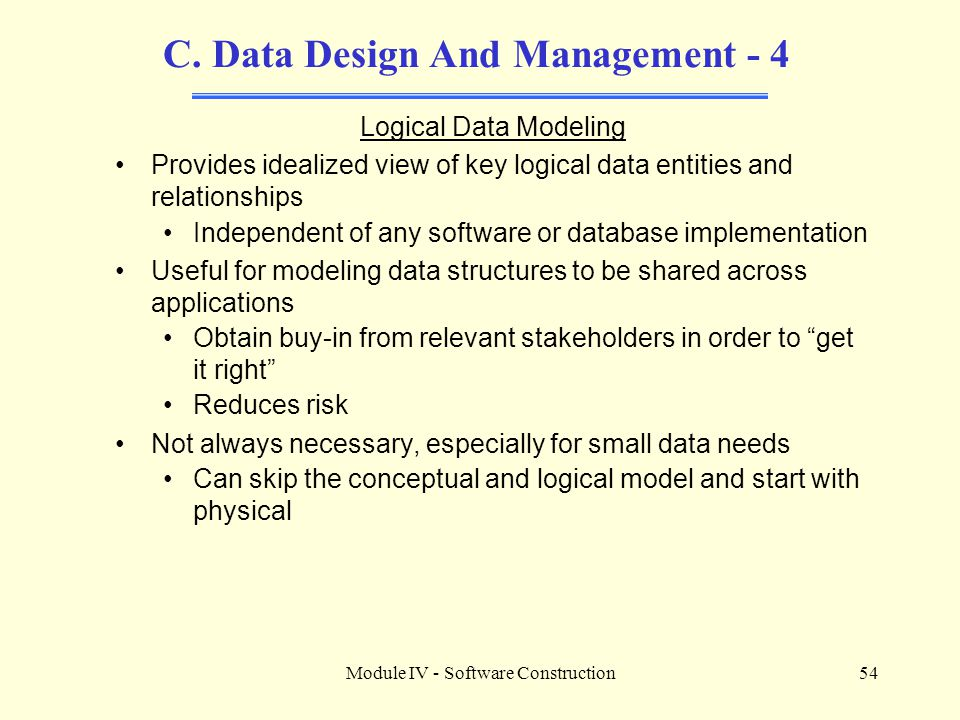 C. Data Design And Management - 4