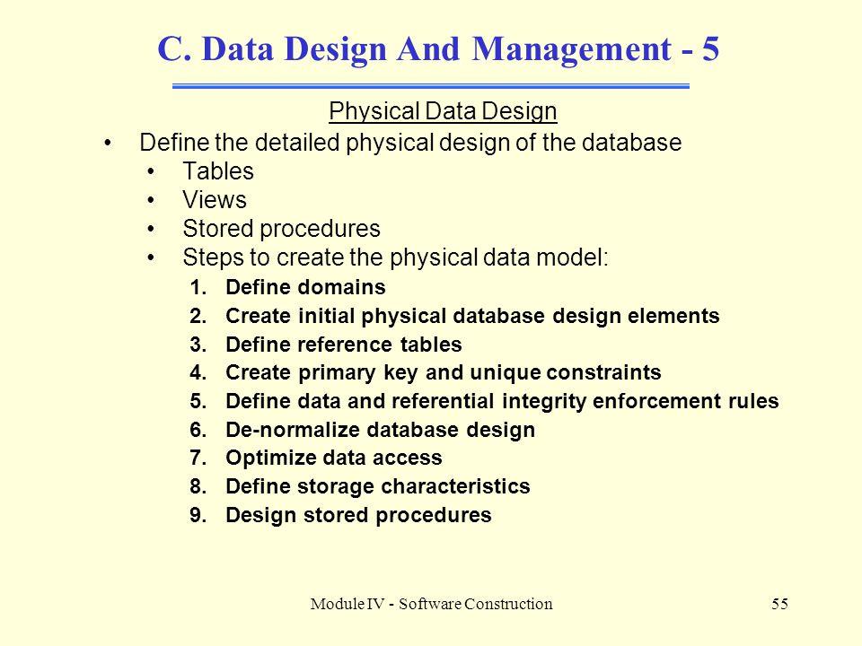C. Data Design And Management - 5