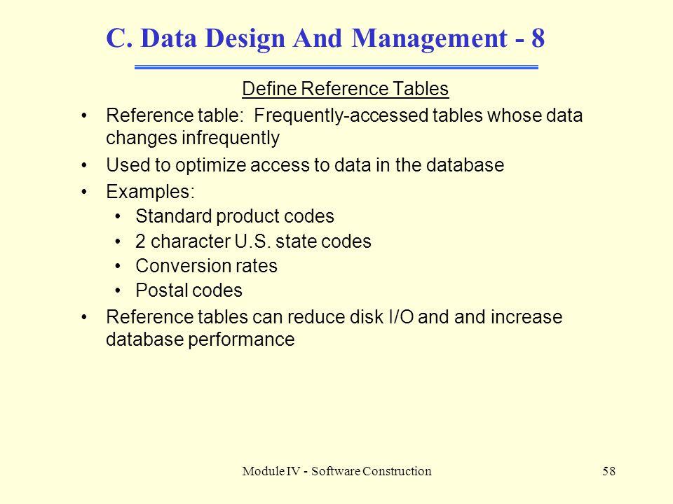 C. Data Design And Management - 8