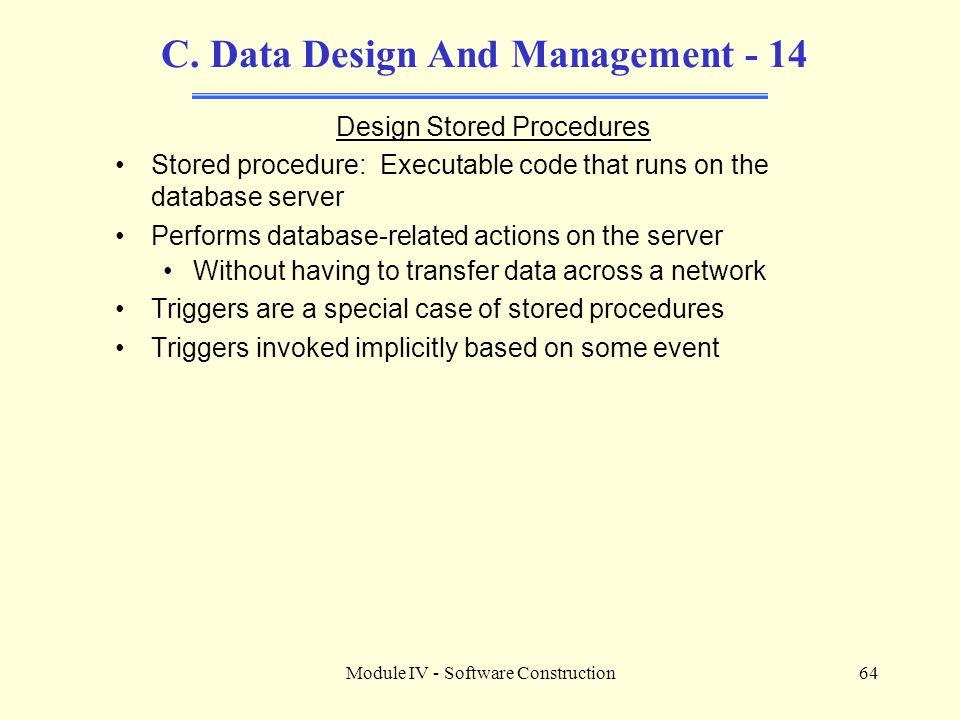 C. Data Design And Management - 14