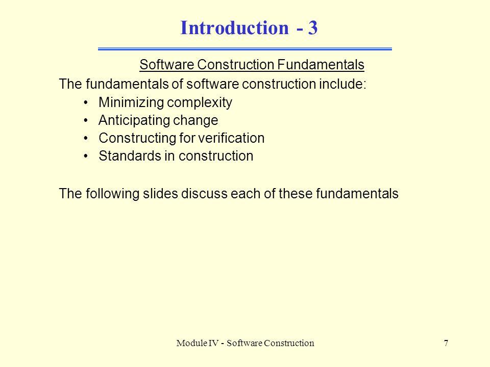 Introduction - 3 Software Construction Fundamentals