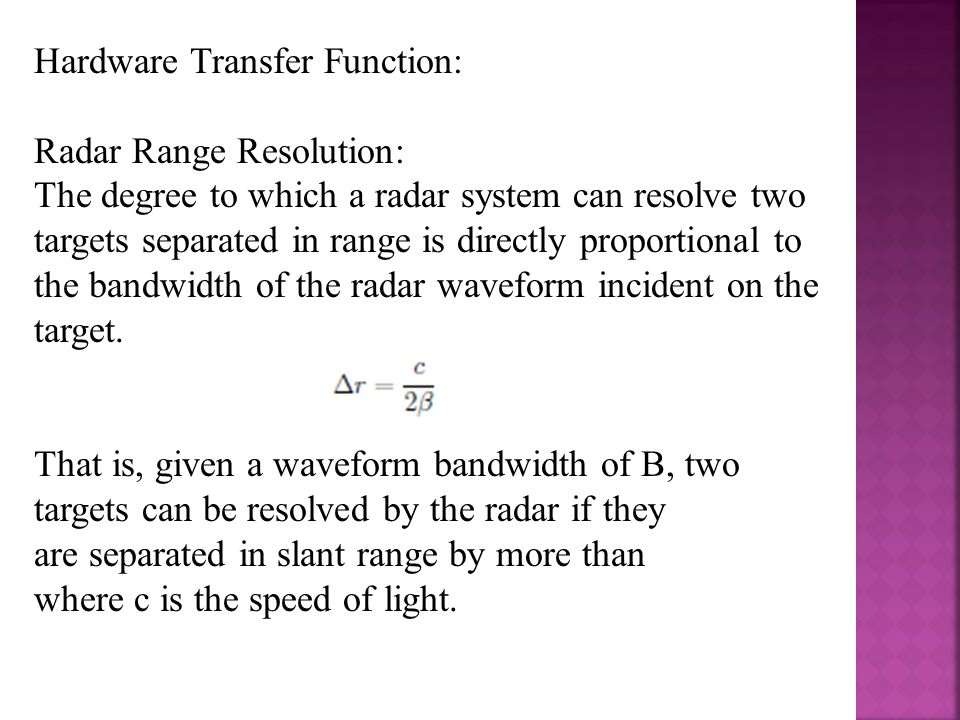 Hardware Transfer Function: