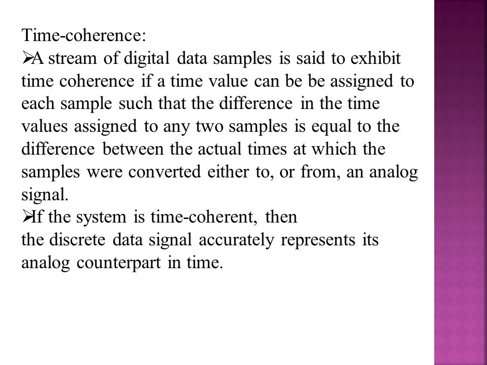 Time-coherence: