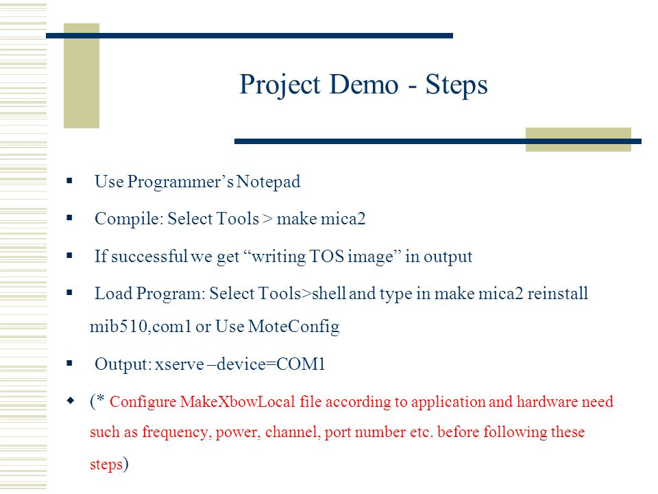 Project Demo - Steps Use Programmer's Notepad