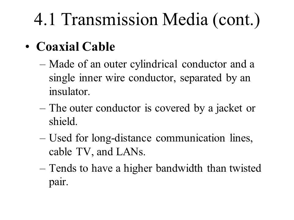 4.1 Transmission Media (cont.)